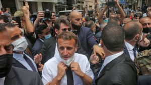 ماكرون يزور بيروت عقب الانفجار_6 من آب