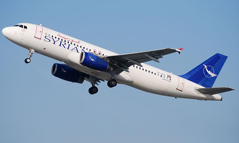 طائرة تابعة لشركة الهطوط الجوية السورية (avia pro)