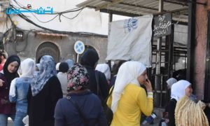 أقفاص حديدية عند مخبز الأمين في العاصمة دمشق (تشرين)
