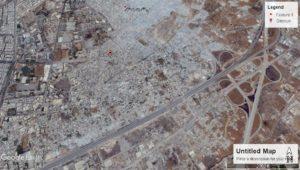 """لقطة لحي القابون من خرائط """"غوغل""""، بتاريخ 2 تموز 2017."""