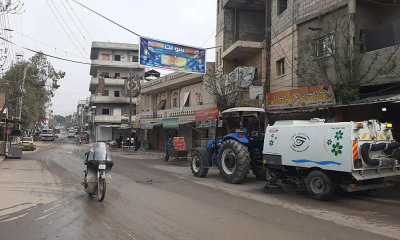 أحد شوارع مدينة جرابلس، 28 من آذار 2020 (المجلس المحلي)