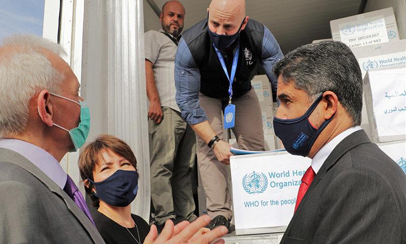 المساعدات الطبية المقدمة من الصحة العالمية لحكومة دمشق، 24 من تشرين الأول 2020 )الصحة العالمية)