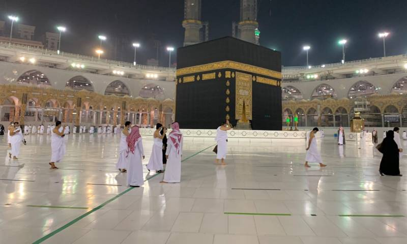 دخول المعتمرين لأداء العمرة 4 من تشرين الأول 2020 (وكالة الأنباء السعودية)