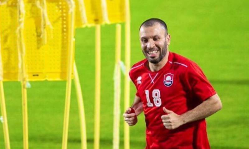 جهاد الحسين بقميص نادي الرائد السعودي 2020 (goal)