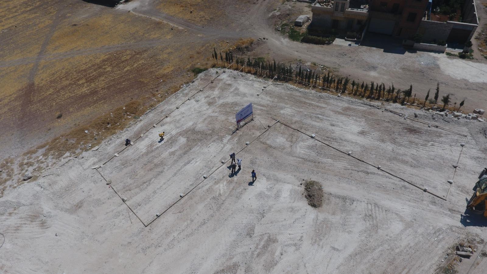 """تخطيط مدرسة """"سجو"""" في مدينة اعزاز شمال غربي مدينة حلب (الأيادي البيضاء)"""