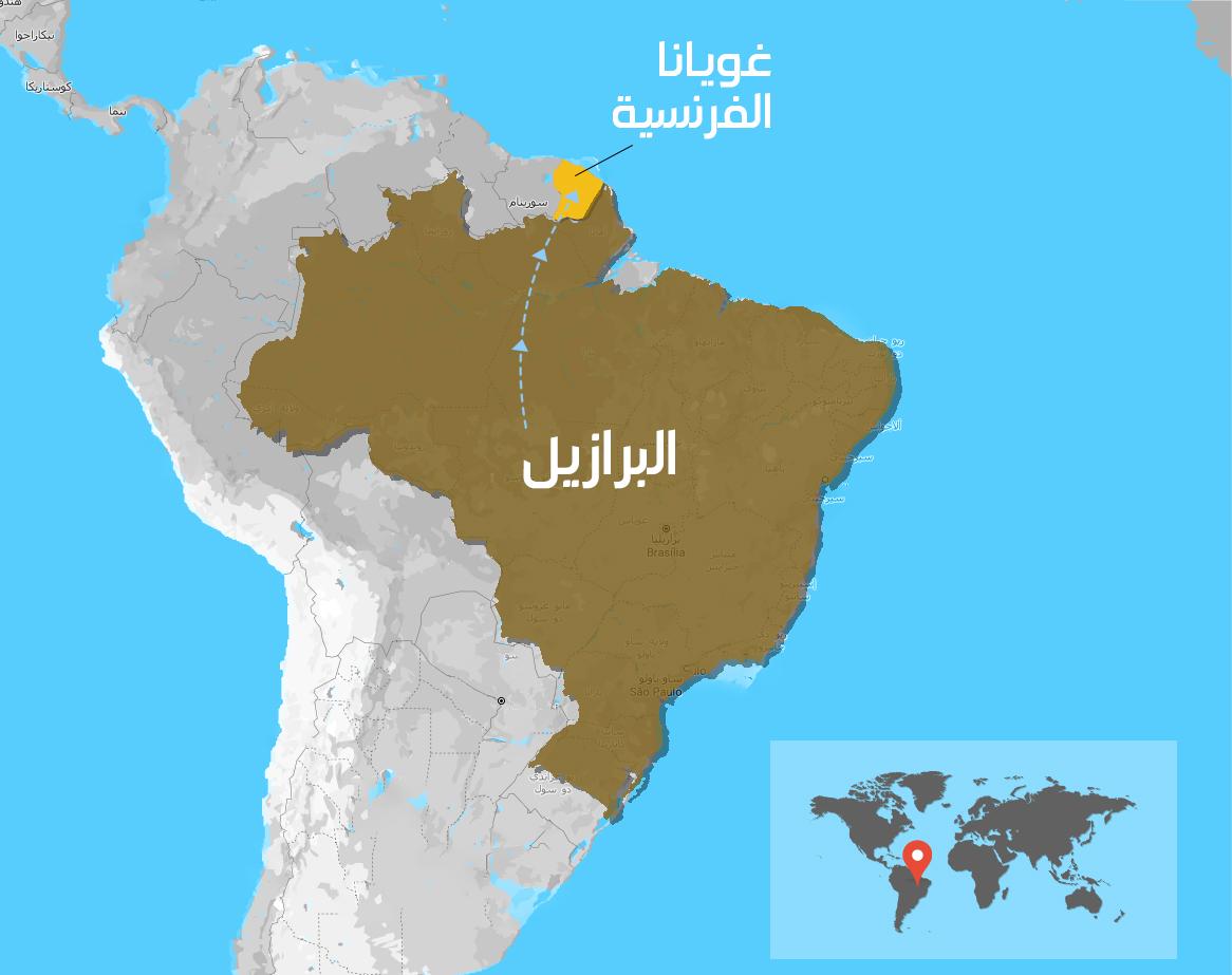 خريطة غويانا (عنب بلدي)