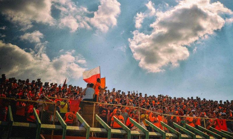 جمهور نادي الوحدة أثناء مباراة السوبر الوحدة أمام تشرين 14 من تشرين الأول 2020 (صفحة النادي الرسمية)