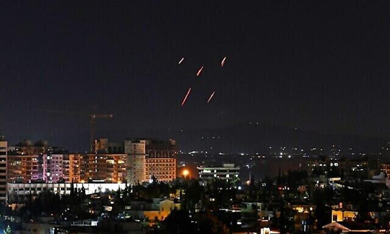 صواريخ اسرائيلية استهدفت جنوب العاصمة دمشق، 20 تموز، 2020. (AFP)