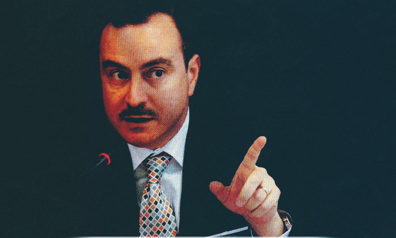 """الإعلامي السوري ومؤسس موقع """"كلنا شركاء في الوطن""""، أيمن عبد النور- (تعديل عنب بلدي)"""