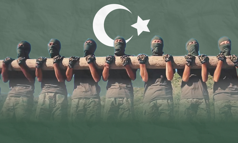 مقاتلون تركستان في سوريا (تعديل عنب بلدي)
