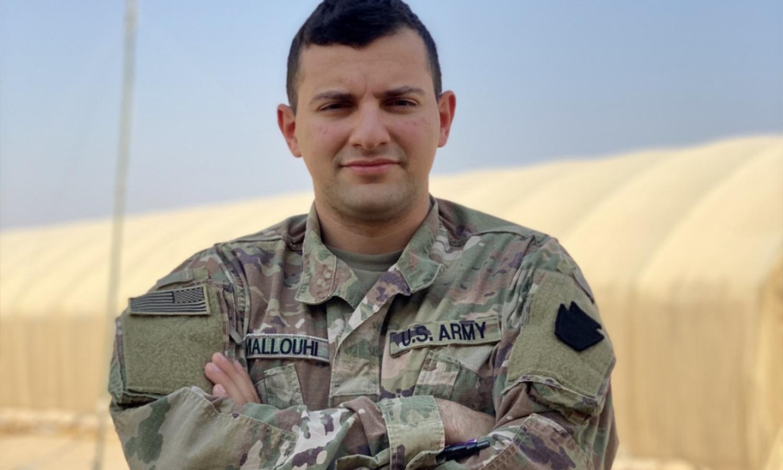 فادي ملوحي جندي في الجيش الأمريكي يخدم في سوريا - 2 من تشرين الأول 2020 (موقع غرفة عمليات العزم الصلب)