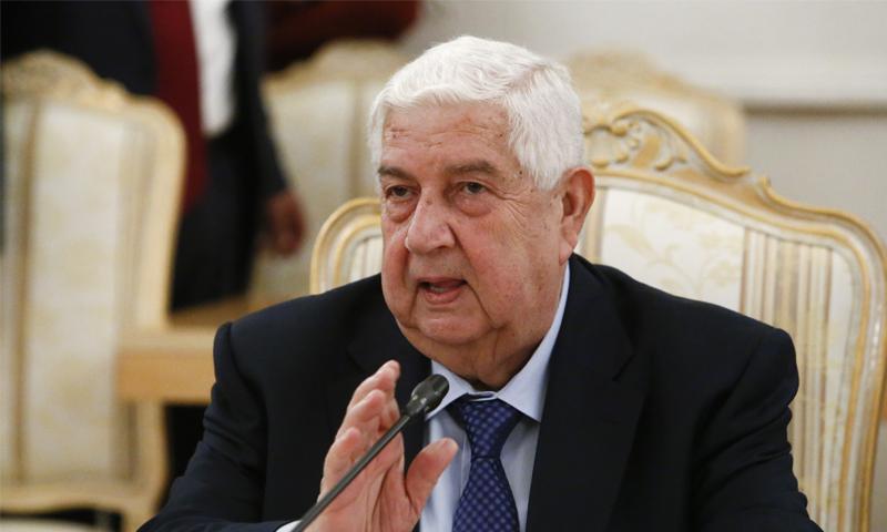 وزير الخارجية والمغتربين في حكومة النظام السوري وليد المعلم (رويترز)