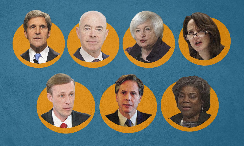 أعضاء إدارة الرئيس الأمريكي المنتخب، جو بايدن - 24 من تشرين الثاني (تصميم عنب بلدي)
