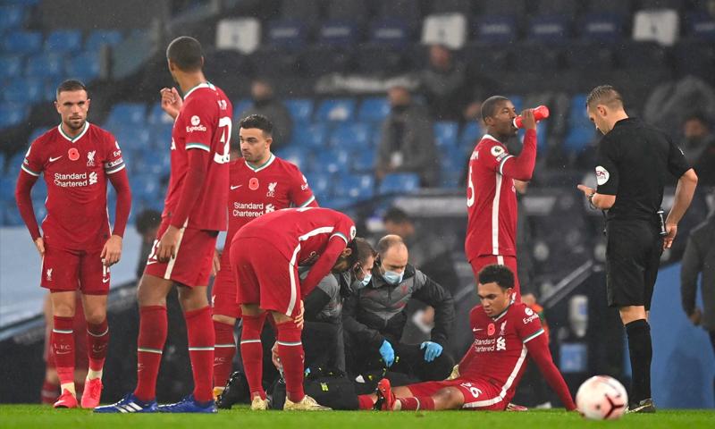فريق ليفربول يعاني من الإصابات (telegraph)