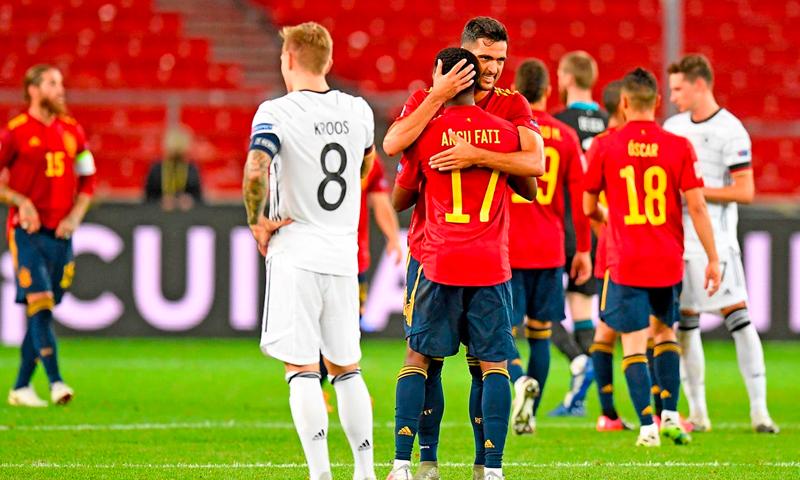 منتخبا إسبانيا وألمانيا في مواجهة مباشرة (حساب الاتحاد الأوروبي)