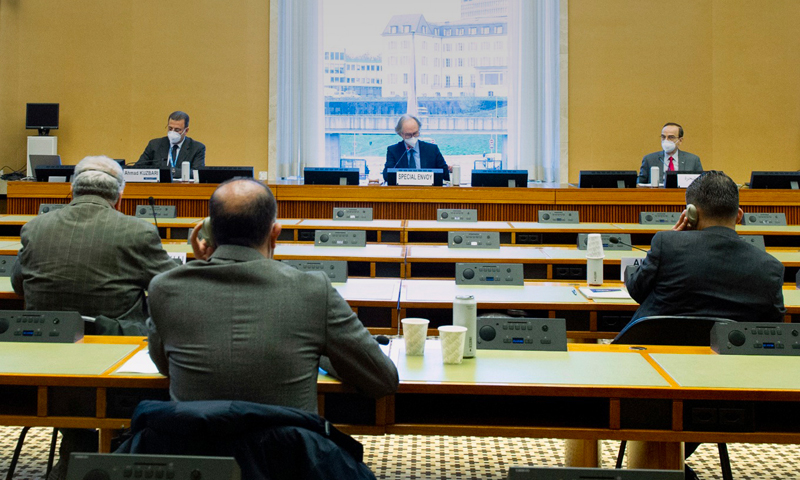 أعمال الجولة الرابعة من محادثات اللجنة الدستورية السورية في جنيف - 30 من تشرين الثاني 2020 (هيئة التفاوض)