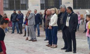 التجهيز لحفل تنسيب طلائع البعث في مدينة تلبيسة بريف حمص الشمالي - 15 تشرين الأول 2020 (فيس بوك/ أطفال سورية)