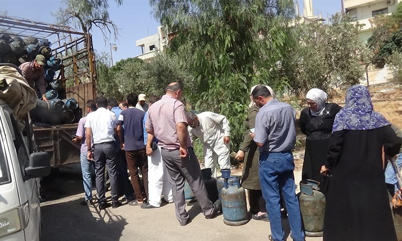 توزيع الغاز في درعا - أيلول 2019 (محافظة درعا الإدارة المحلية)