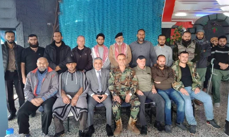 اجتماع اللجان المركزية في بلدة الأشعري بريف درعا الغربي - 5 تشرين الثاني 2020 (متداول)