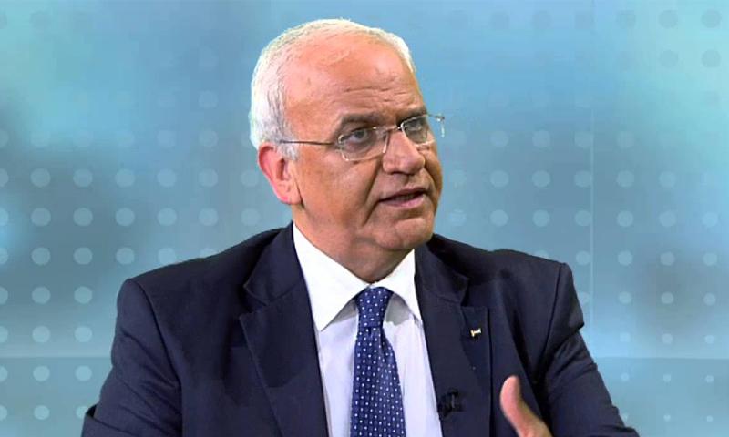 كبير المفاوضين الفلسطينيين السابق، صائب عريقات، الثلاثاء، 11 من تشرين الثاني