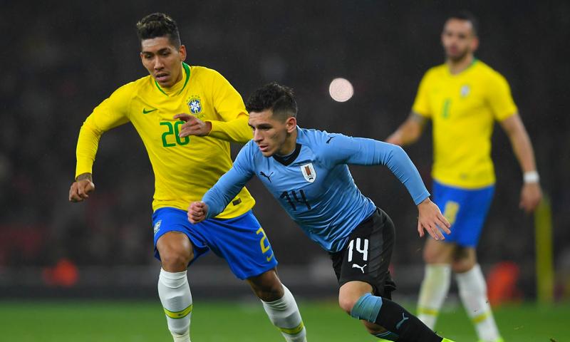 مواجهة بين منتخبي البرازيل والأوروغواي (FIFA)