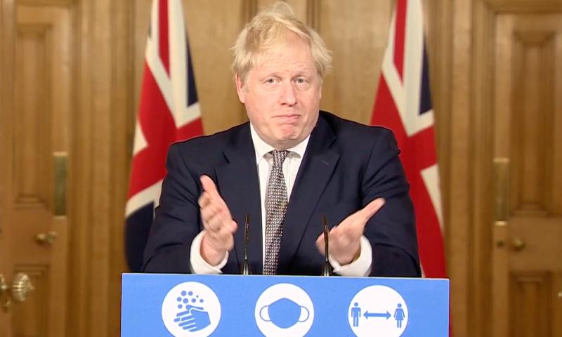 رئيس الوزراء البريطاني بوريس جونسون يعلن الإغلاق الوطني للمرة الثانية لمواجهة كورونا - 31 تشرين الأول 2020 (Skynews)