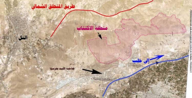 """خريطة تظهر المخطط التنظيمي لمشروع """"المدينة الخضراء"""" في معرونة (إعمار سوريا)"""