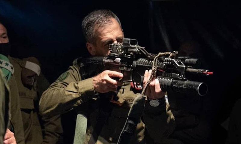 """""""رئيس الأركان الإسرائيلي"""" أفيف كوخافي- خلال مشاركته في مناورة خاصة للواء كفير العسكري - 30 يونيو 2020 - المصدر (IDF)"""