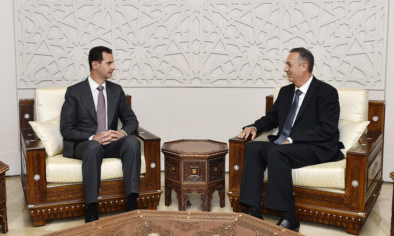 تعيين رئيس النظام السوري، بشار الأسد، لمحافظ ريف دمشق علاء ابراهيم - تموز 2016 (سانا)