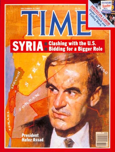 صورة حافظ الأسد على غلاف مجلة التايم - 21 كانون الأول 1983 (موقع المجلة)