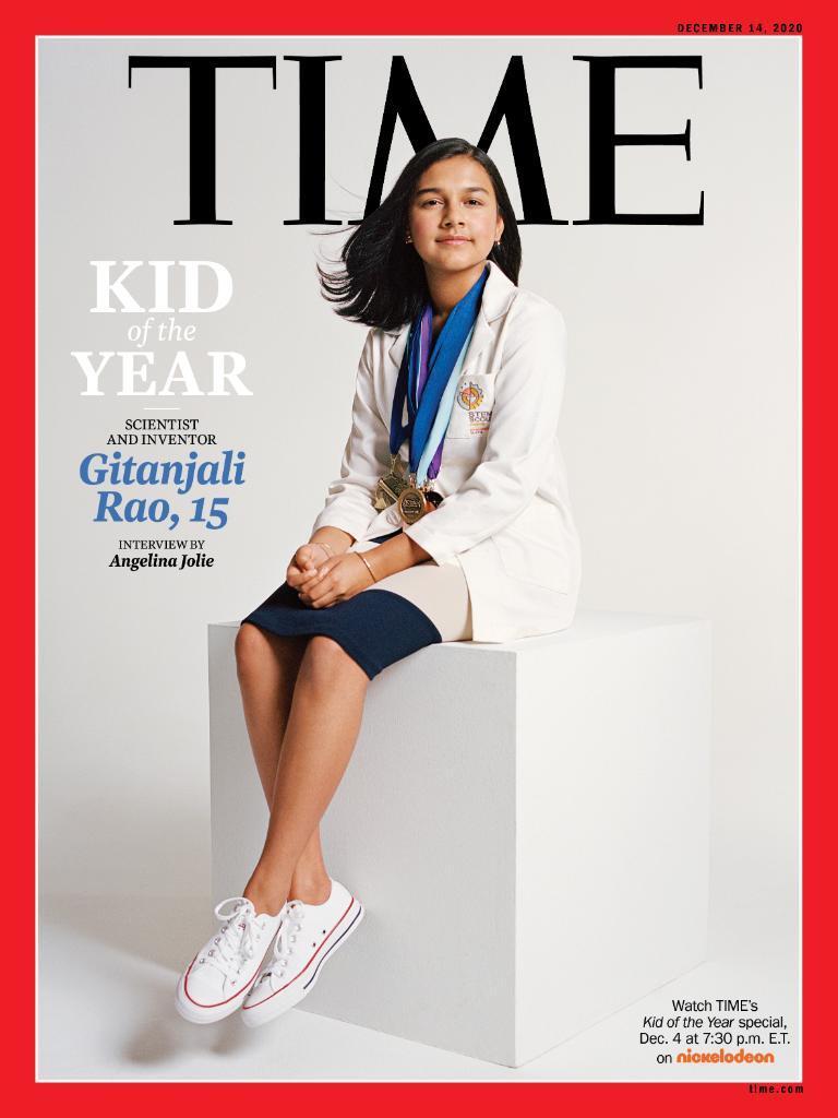 التلميذة جيتانجالي راو هي أول طفلة تتصدر غلاف مجلة &quot؛تايم&quot؛ كشخصية عام 2020- 3 من كانون الأول 2020 (تايم)