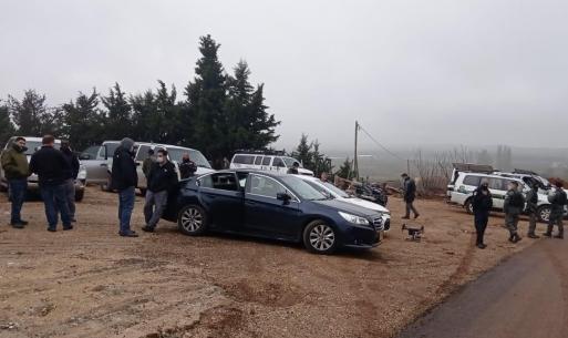 شرطة الاحتلال الإسرائيلية تحاوط بلدات في مجدل شمس في الجولان السوري المحتل- 7 من كانون الأول 2020 (عرب 48)