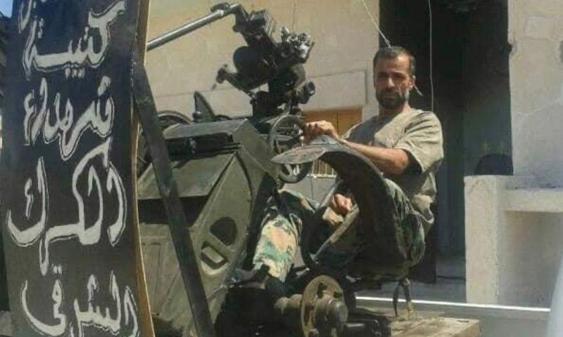 """القيادي السابق في """"الجيش الحر"""" عاكف الزكي والذي تعرض للاغتيال رميًا بالرصاص أمام منزله في بلدة الكرك الشرقي - (اللجاة برس)"""