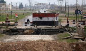 حاجز لقوات النظام السوري في حلب - 2018 (رويترز)