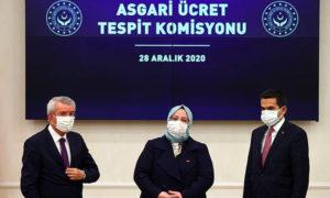 وزيرة العمل والخدمات الاجتماعية التركية زهراء زمرد سلجوق تعلن الحد الأصغري للأجور في عام 2021 - 28 كانون الأول 2020 (الأناضول)