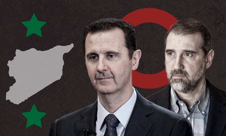 رامي مخلوف وبشار الأسد (تعديل عنب بلدي)