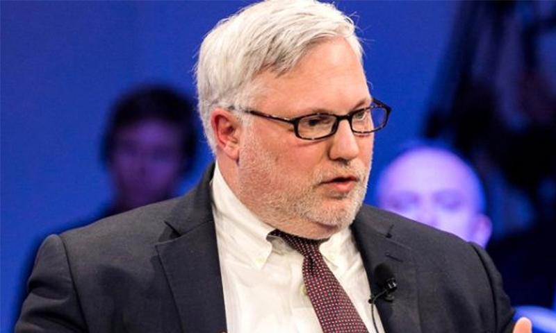 المبعوث الأمريكي إلى سوريا جويل ريبورن، في المنتدى الاقتصادي العالمي حول الشرق الأوسط وشمال أفريقيا - 2019 (AP)