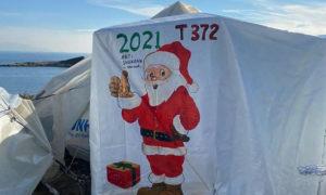 """مخيم """"كارا تيبي"""" في جزيرة ليسبوس اليونانية 23 من كانون الأول (منظمة ميديكو الدولية)"""