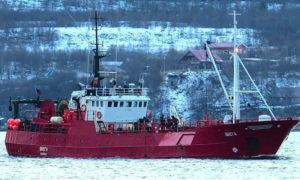 سفينة روسية غرقت في بحر بارنتس في القطب الشمالي - 28 من كانون الأول 2020 (ريا نوفوستي)