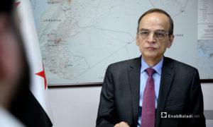 عضو هيئة التفاوض العليا ورئيس اللجنة الدستورية السورية هادي البحرة- 6 من أيلول 2019 (عنب بلدي)- تصوير عبد المعين حمص