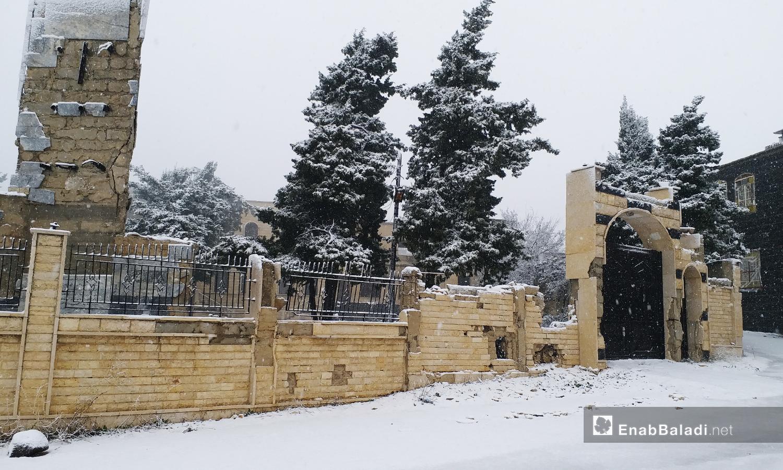 أحدى المنازل في الريف الشمالي للقنيطرة - 21 كانون الثاني 2021 (عنب بلدي)