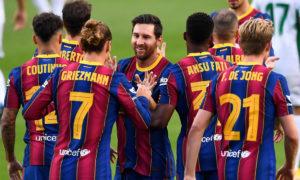 فريق برشلونة يستعد لمواجهة اتليتك بيلباو (antena sport)