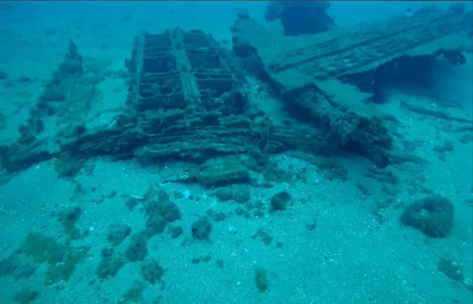بقايا أثرية يُعتقد أنها لميناء قديم قبالة الساحل السوري غربي سوريا، 27 من كانون الثاني (وكالة نوفوستي)