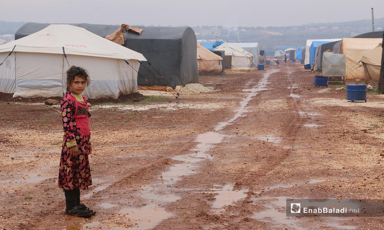"""مخيمات منطقة """" الوطى""""- 14 كانون الثاني 2021 (عنب بلدي / إياد عبد الجواد)"""