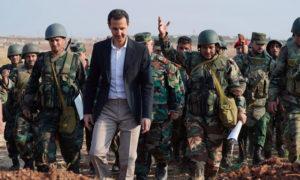 رئيس النظام السوري بشار الأسد في زيارة إلى أطراف محافظة إدلب - 22 تشرين الاول 2019 (سانا)