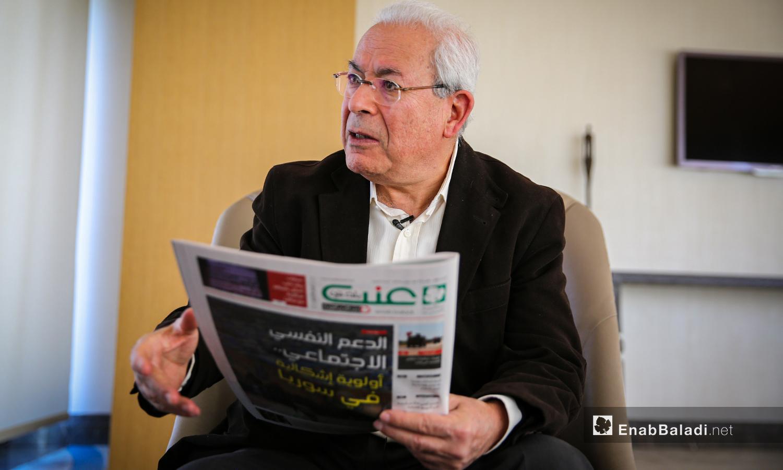 لقاء مع برهان غليون - 17 أذار 2019 (عنب بلدي / عبد المعين حمص