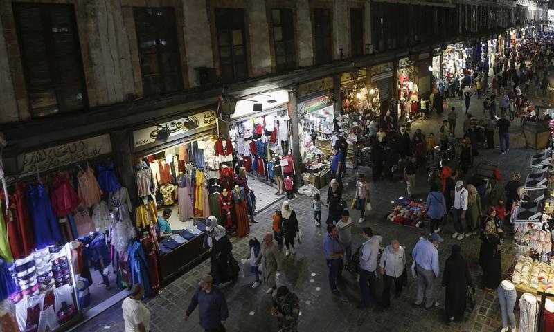سوق الحميدية في دمشق القديمة - 16 حزيران 2020 (AFP)