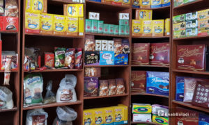 متجر لبيع المنتجات الغذائية في مدينة حلب - 2 كانون الأول 2020 (عنب بلدي)