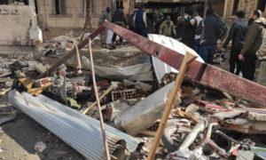 آثار انفجار متجر للسلاح في شارع الجلاء في إدلب - 18 كانون الثاني 2021 (ناشطون)
