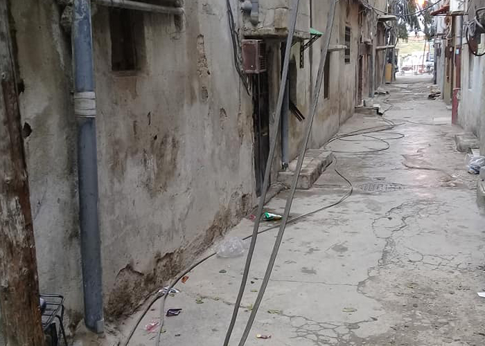 """مخيم """"جرمانا"""" للاجئين الفلسطينيين بريف دمشق، المصدر: مجموعة العمل من أجل فلسطينيي سوريا، 2021."""